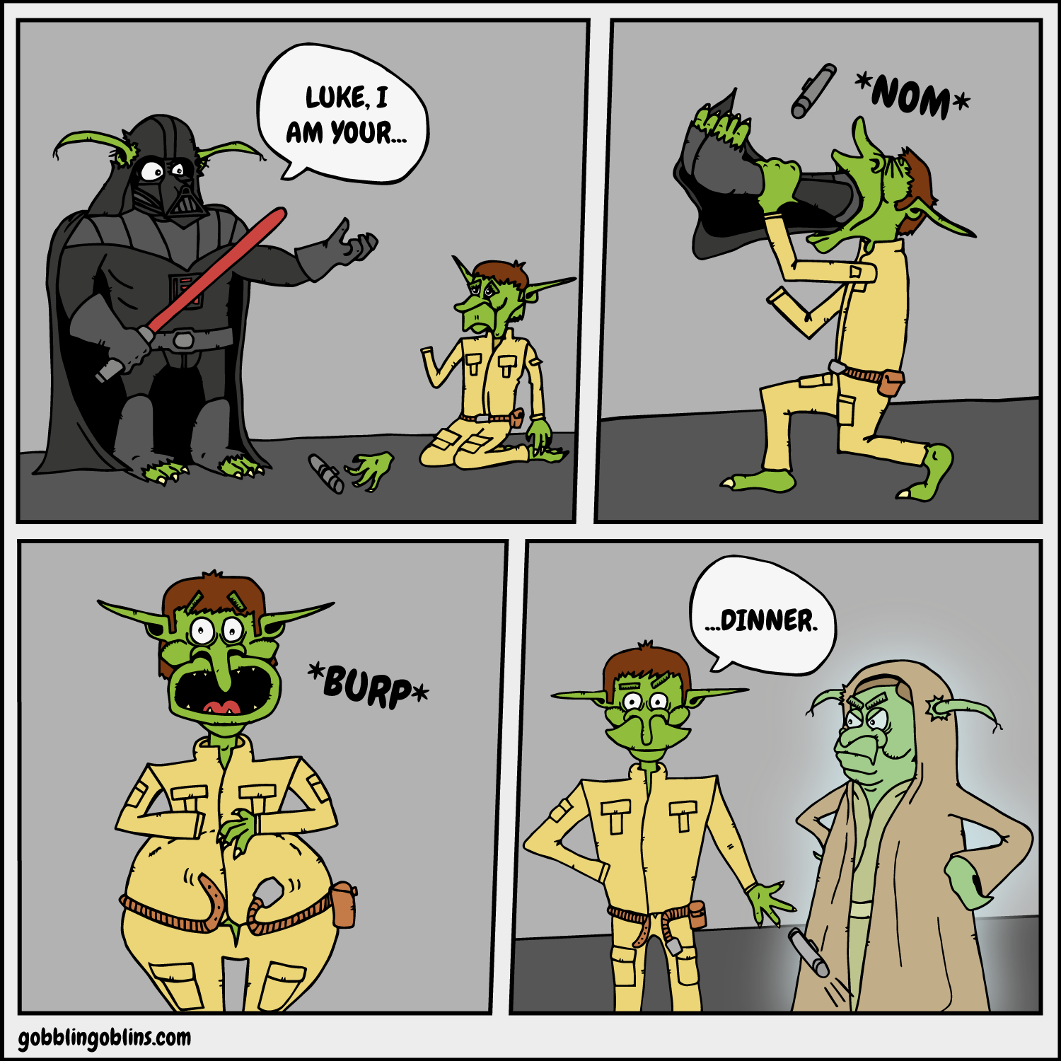 May The Fourth Be With You - a comic by Gobblin' Goblins