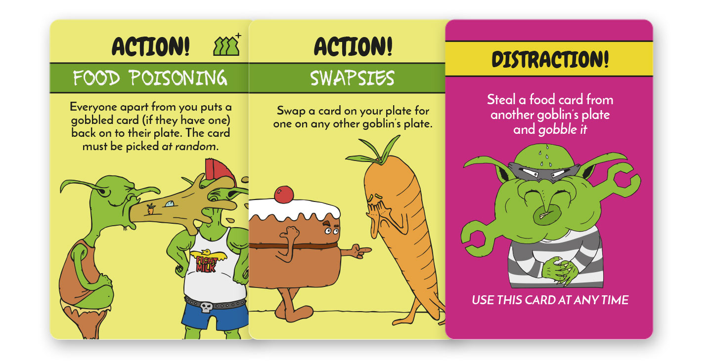 Action and Distraction cards